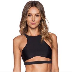 NWOT beach riot Abby halter bikini top